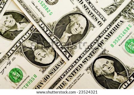 Money background - one american dollars