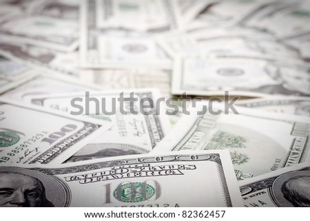 Money background. Shallow focus.