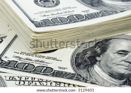money background - stack of one hundred dollars