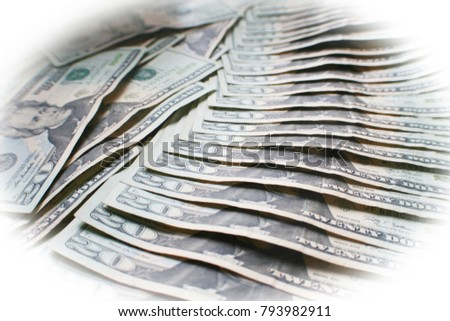 Money Background With Twenties With White Frame  #793982911