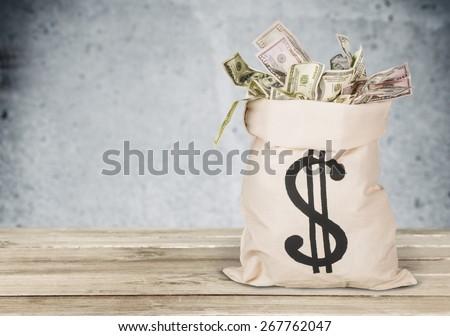 Money Bag. Bag full of Money