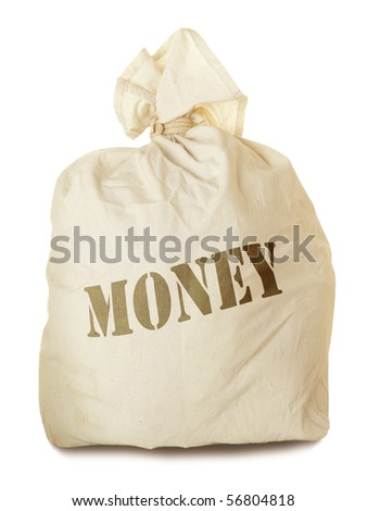 Money bag isolated