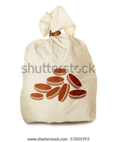 Money bag isolated