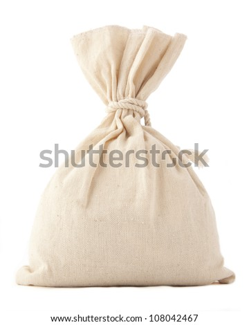 Money Bag  isolated on white with space  for inscriptions