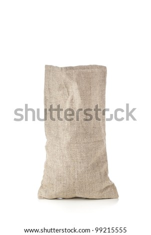 Money bag on white with blank copy-space to put the preferred currency sign