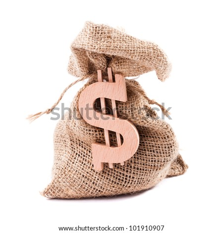 Money bag with dollar symbol