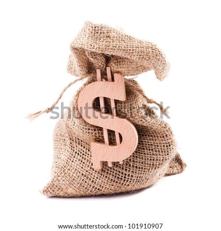 Money bag with dollar symbol