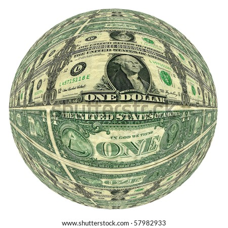 Money Ball Abstract From Photographed Dollar