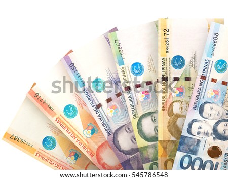 Money bills stacked like a fan creating a colorful background. #545786548