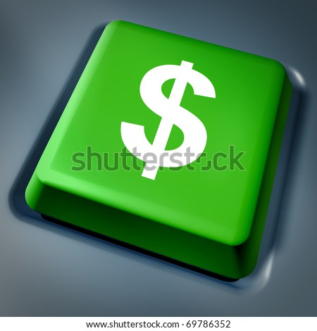 money Business currency cash symbol on computer key laptop keyboard