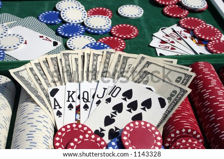 money chips and cards