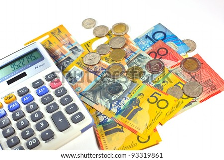 money, coin and calculator