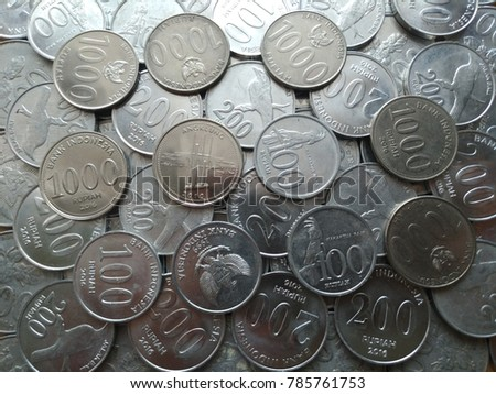 money. coins. indonesia coin rupiah - Shutterstock ID 785761753