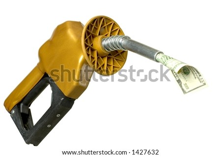 Money coming out of gasoline pump