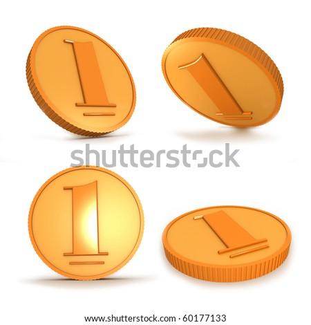 Money. 3d image isolated on white background.
