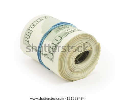 money, dollars isolated on white background