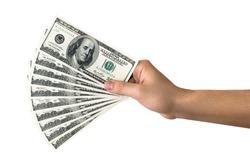 Money. Dollars. Money in hand