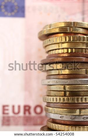 Money, euro - stock photo