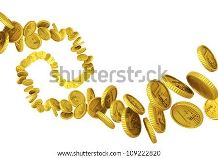 Money, euros flying