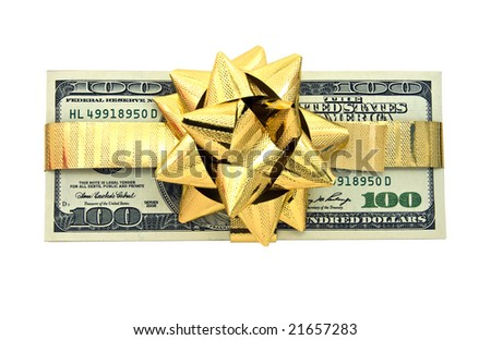 money for Christmas - stock photo