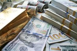 Money & Gold Stock Photo