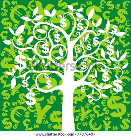 money growing on trees, dollars