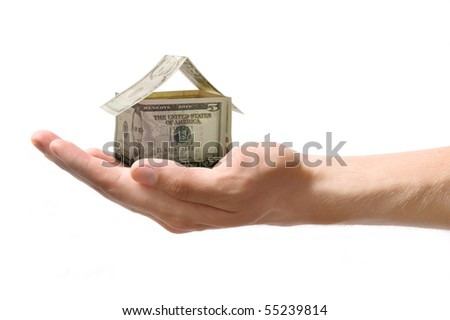 money house in the hand