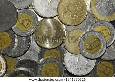 Money Hungarian Coins Stock fotó ©