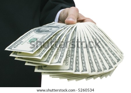 Money in hand of the businessman