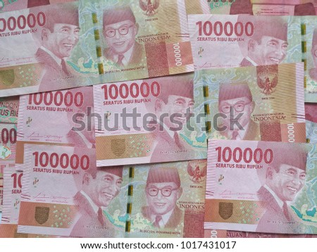 Money. Indonesian money rupiah - Shutterstock ID 1017431017