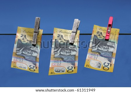 Money Laundering - Australian $50 notes.