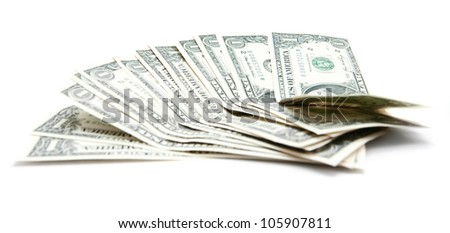 Money. On a white background.