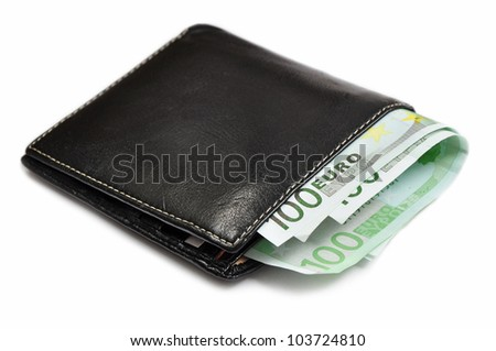 Money or finance in wallet, budget. - stock photo