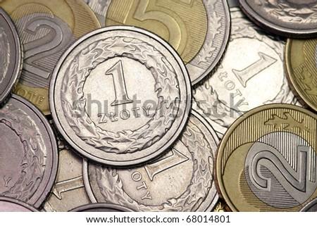 Money PLN on white background