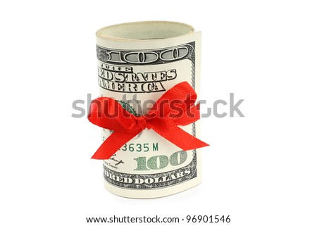 Money present on white background
