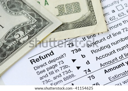Money refunded on the United States tax return