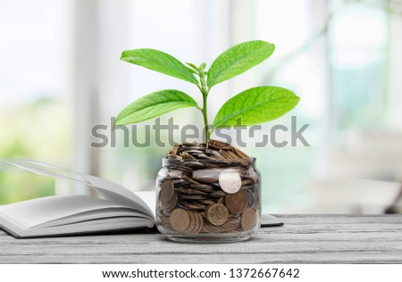 money saving growth to profit concept investment and finance business #1372667642