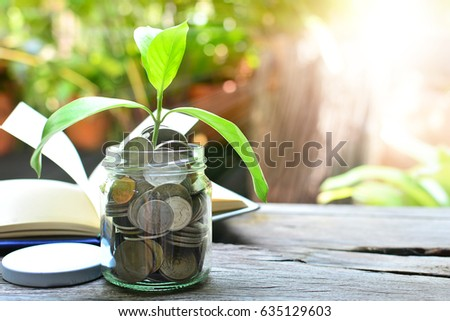 money saving growth to profit concept investment and finance business  #635129603