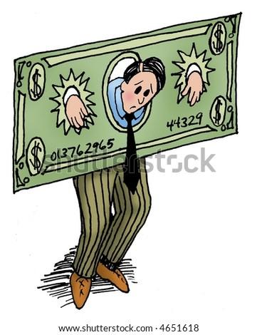Money shackles - stock photo