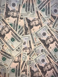 Money spread around the floor
