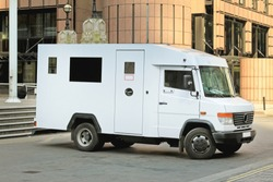 Money Transport Safety Armored Truck in London