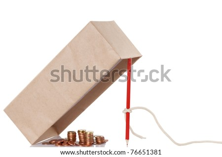 Money trap isolated on white background, fraud concept