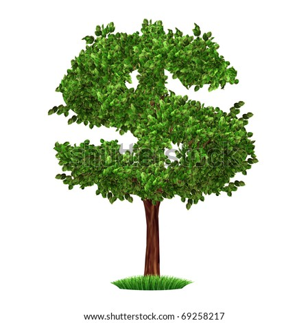 money tree investment growth income interest savings economy funds stock market financial business isolated