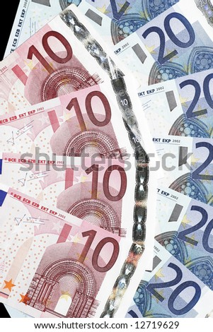 Money - Twenty And Ten Euro Notes Laid Out As Fan