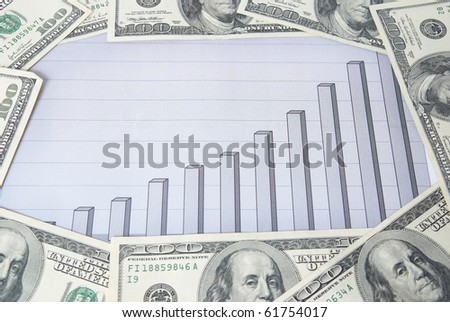 Money with chart can be used for financial concept - stock photo
