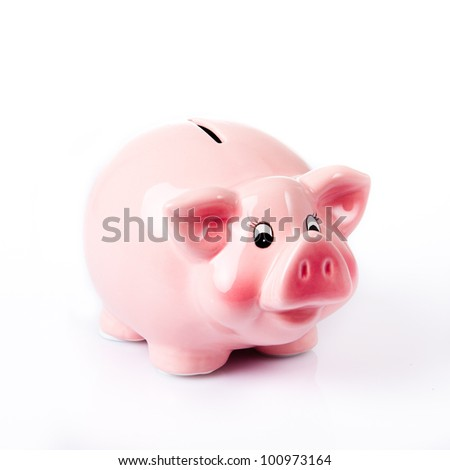 Moneybox cutout. Piggy bank.