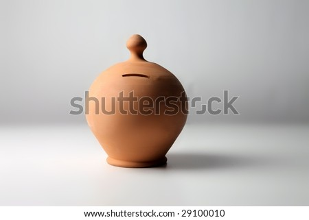 moneybox isolated on a white background