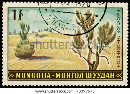 mongolia   circa 1969  a stamp...