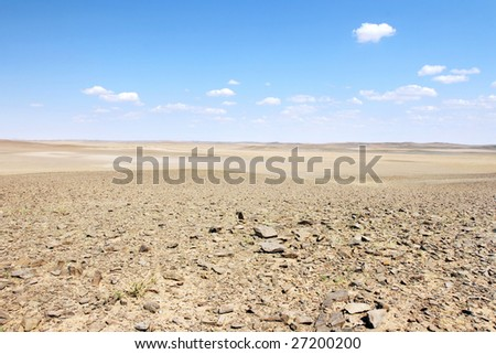 Mongolian landscape in the Gobi desert