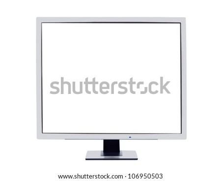 Monitor frame isolated on white to replace inner Screen with the image of your choice